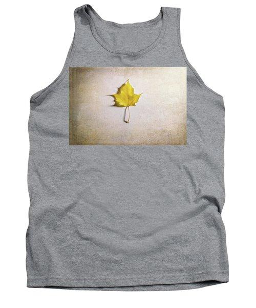 A Single Yellow Maple Leaf Tank Top
