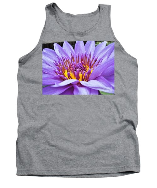 A Sliken Purple Water Lily Tank Top