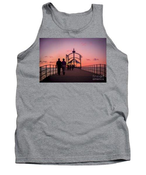 A Stroll Along Sunset Pier Tank Top