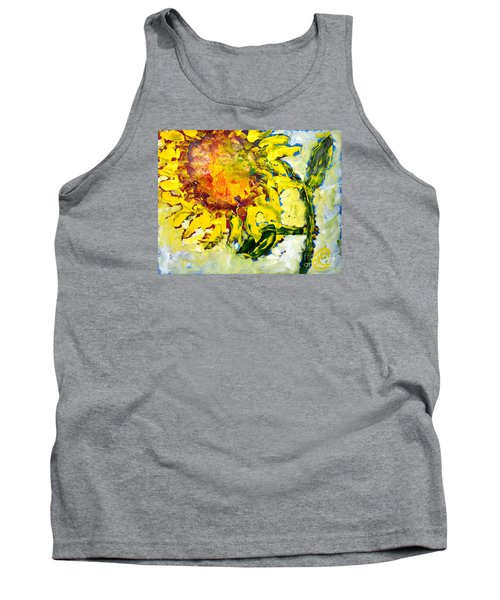 A Sunflower Greeting Tank Top