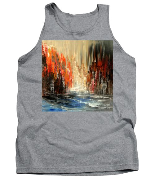 Tank Top featuring the painting A Tale Of Two Cities by Tatiana Iliina