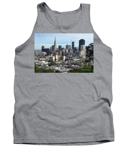 Tank Top featuring the photograph A View Of Downtown From Nob Hill by Steven Spak