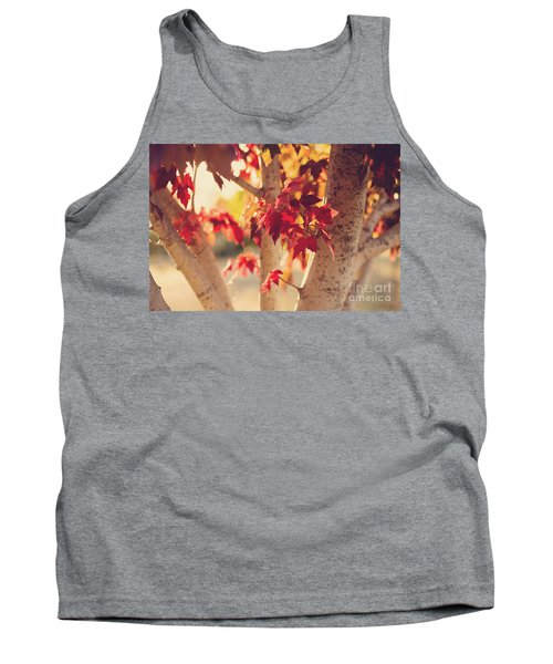 A Warm Red Autumn Tank Top by Linda Lees