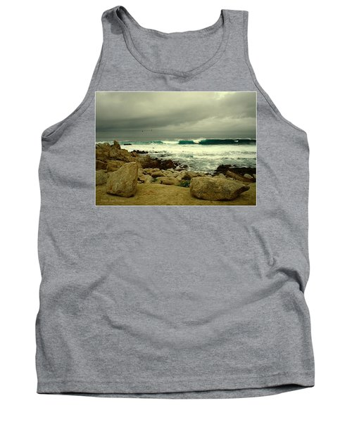 Tank Top featuring the photograph A Winter Day At The Beach by Joyce Dickens