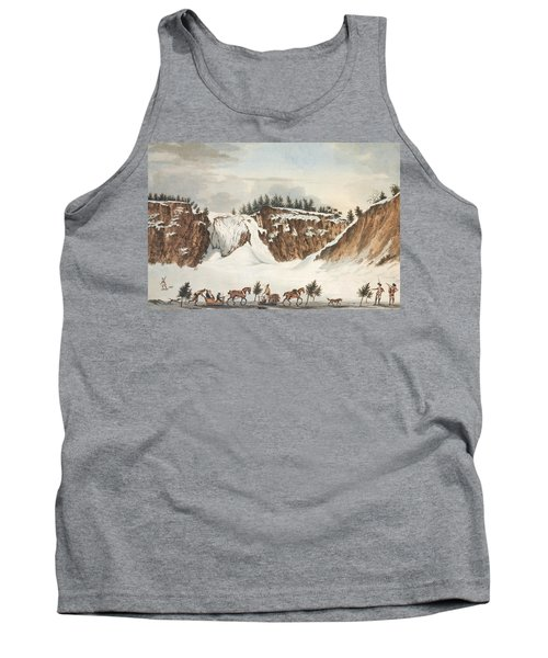A Winter View Of The Falls Of Montmorenci Tank Top