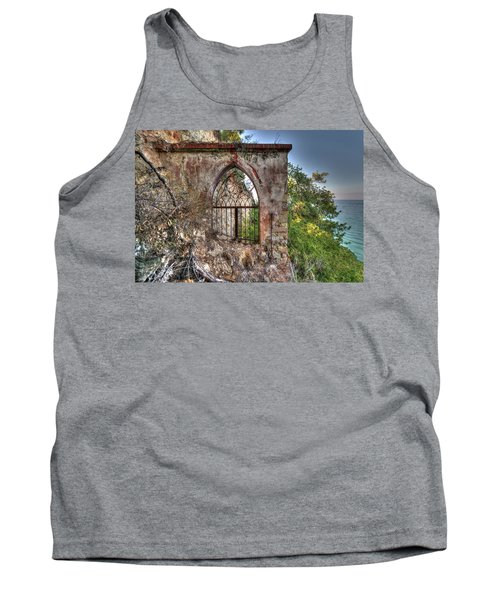 Abandoned Places Iron Gate Over The Sea - Cancellata Sul Mare Tank Top