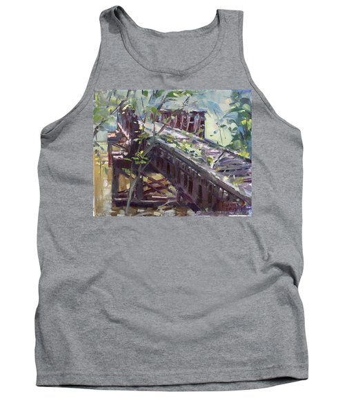 Abandoned Railroad Bridge In Tonawanda Tank Top