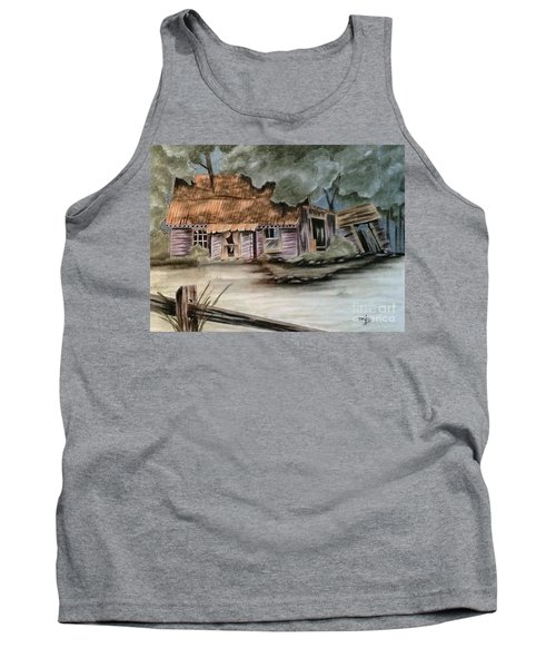 Tank Top featuring the drawing Abandoned by Terri Mills