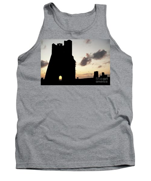 Aberystwyth Castle Tower Ruins At Sunset, Wales Uk Tank Top