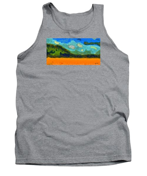Tank Top featuring the digital art Above The Woods by Spyder Webb