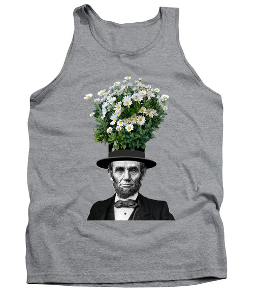 Abraham Lincoln Presidential Daisies Tank Top