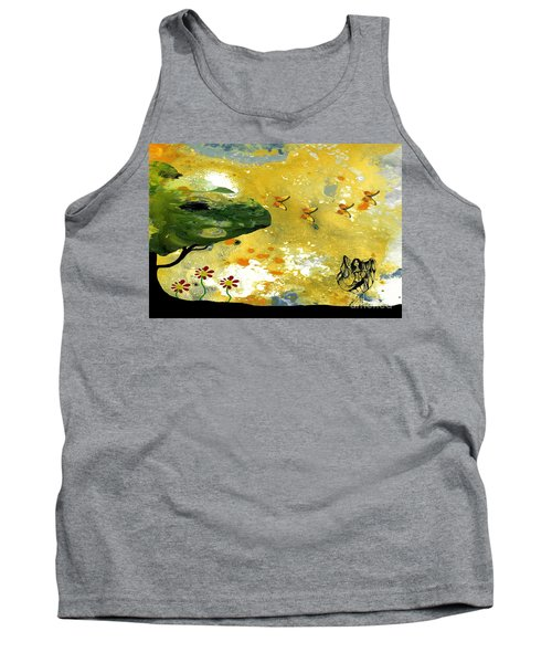 Abstract Acrylic Painting Spring Dance Tank Top