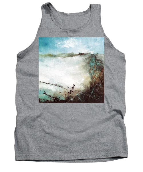 Abstract Barbwire Pasture Landscape Tank Top
