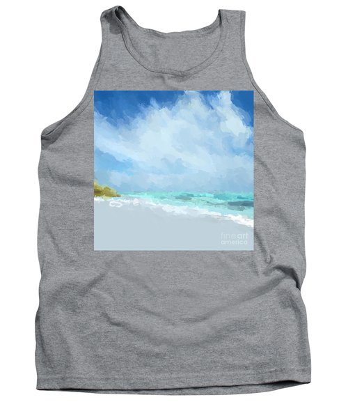 Abstract Beach Afternoon  Tank Top by Anthony Fishburne