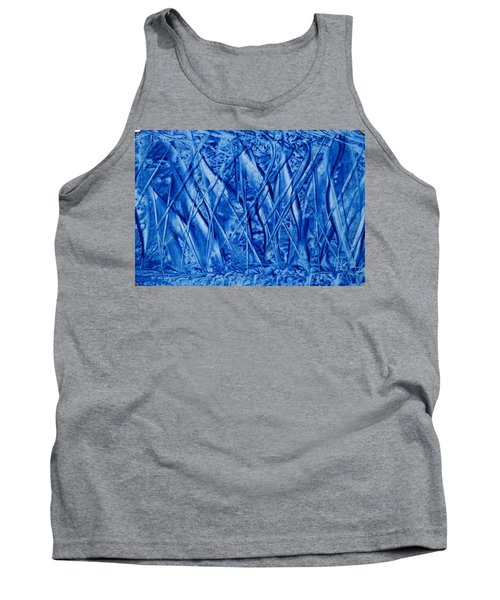 Abstract Encaustic Blues Tank Top