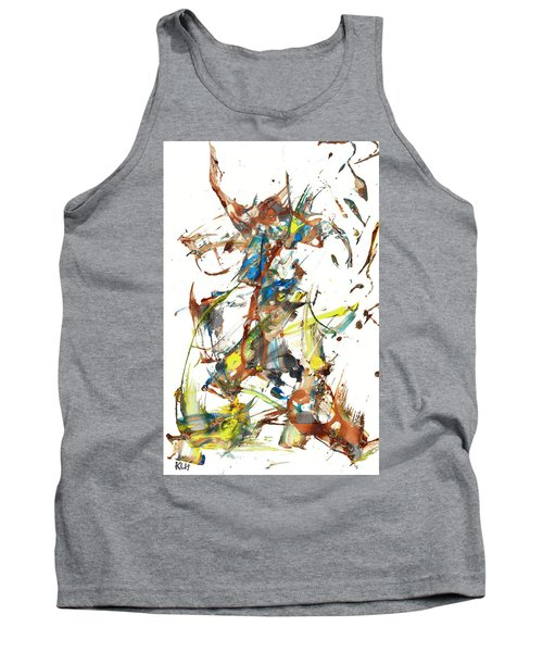 Tank Top featuring the painting Abstract Expressionism Painting Series 1040.050812 by Kris Haas