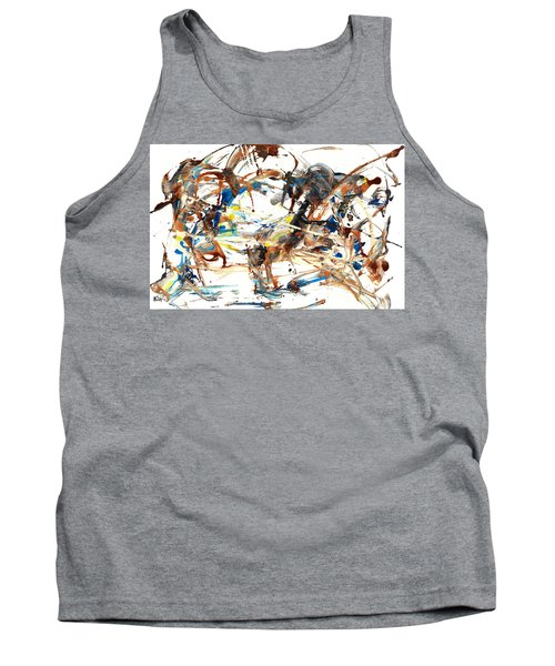 Tank Top featuring the painting Abstract Expressionism Painting Series 1042.050812 by Kris Haas
