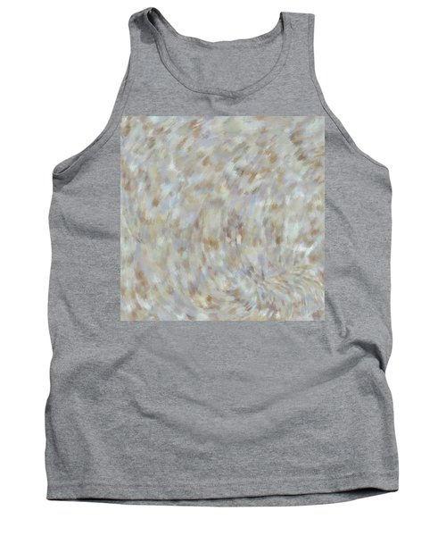 Tank Top featuring the mixed media Abstract Gold Cream Beige 6 by Clare Bambers