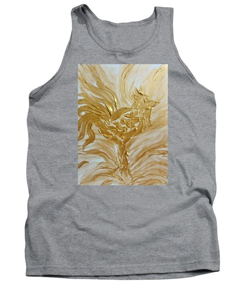 Abstract Golden Rooster Tank Top