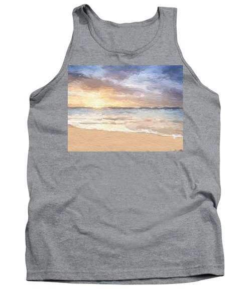 Abstract Morning Tide Tank Top by Anthony Fishburne