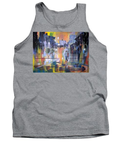 Abstract Of Motion Tank Top by Raymond Doward