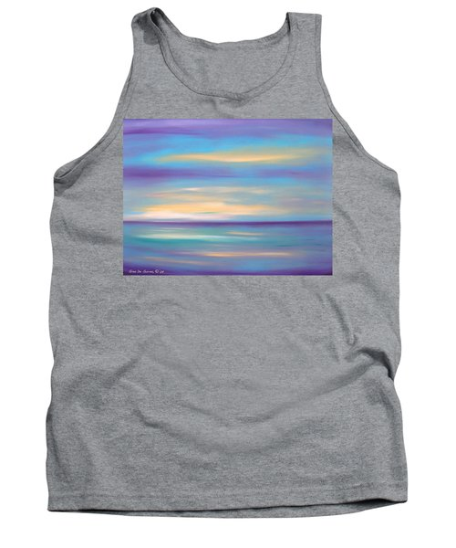 Abstract Sunset In Purple Blue And Yellow Tank Top