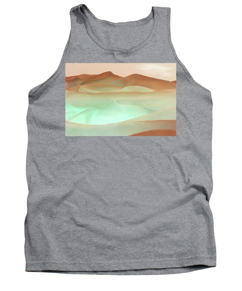 Abstract Terracotta Landscape Tank Top by Deborah Smith