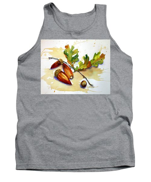 Acorns And Leaves Tank Top