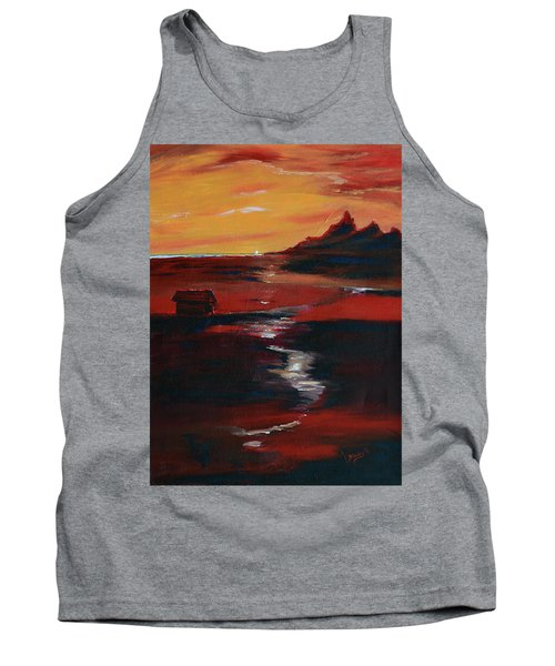 Across Amber Fields To The Sea Tank Top by Donna Blackhall