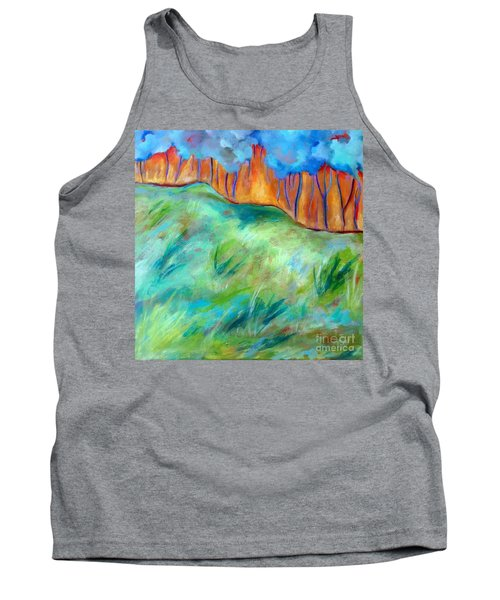 Tank Top featuring the painting Across The Meadow by Elizabeth Fontaine-Barr