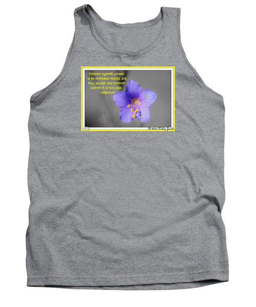 Act Now And Forever Tank Top by Holley Jacobs