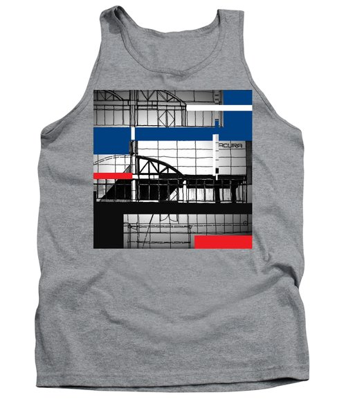 Tank Top featuring the mixed media Acura Study by Andrew Drozdowicz
