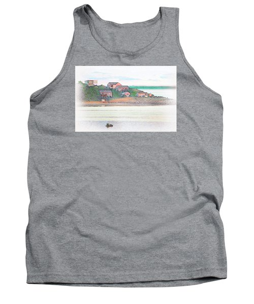 Adrift On The Bay At Sunset Tank Top