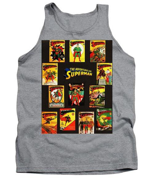 Adventures Of Superman Tank Top