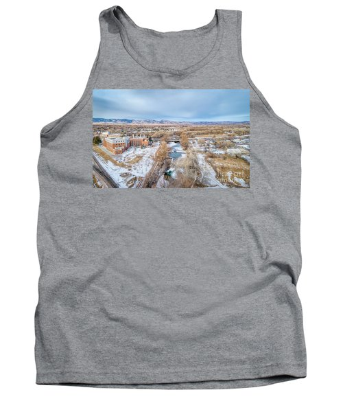 aerial cityscape of Fort Collins Tank Top