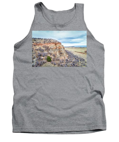aerial view of northern Colorado foothills  Tank Top