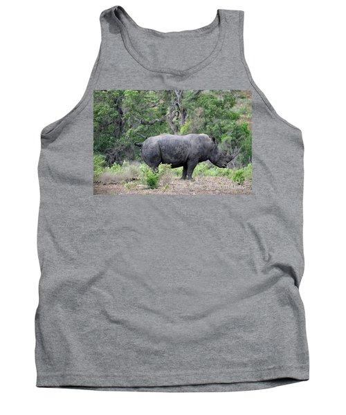 African Safari Naughty Rhino Tank Top by Eva Kaufman