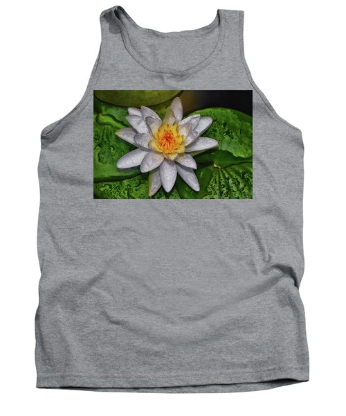 Tank Top featuring the photograph After The Rain - Water Lily 003 by George Bostian
