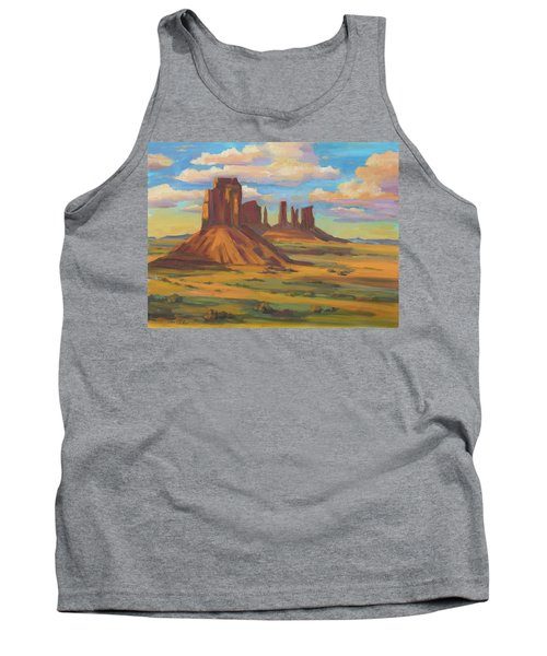 Tank Top featuring the painting Afternoon Light Monument Valley by Diane McClary