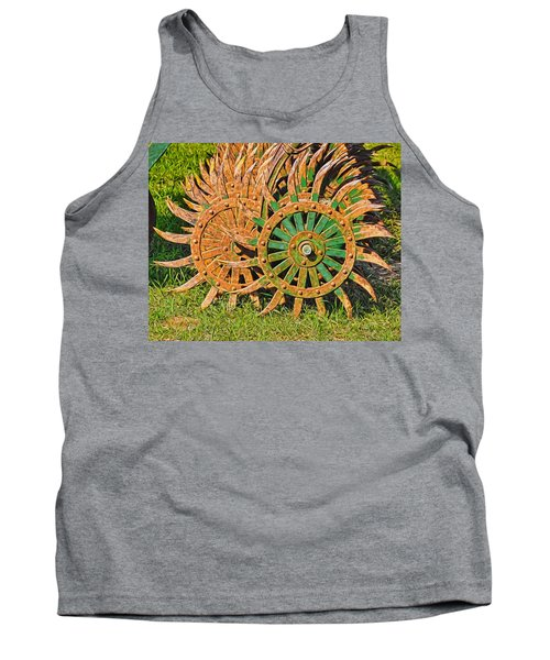 Tank Top featuring the photograph Ag Machinery Starburst by Trey Foerster