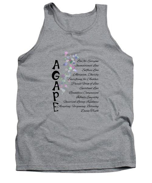 Agape-words Of Love Tank Top
