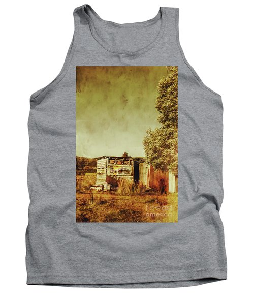 Aged Australia Countryside Scene Tank Top