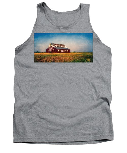 Tank Top featuring the photograph Aggie Barn 2015 by Joan Carroll