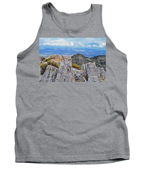 Tank Top featuring the photograph Aguereberry Point Rocks by Kyle Hanson
