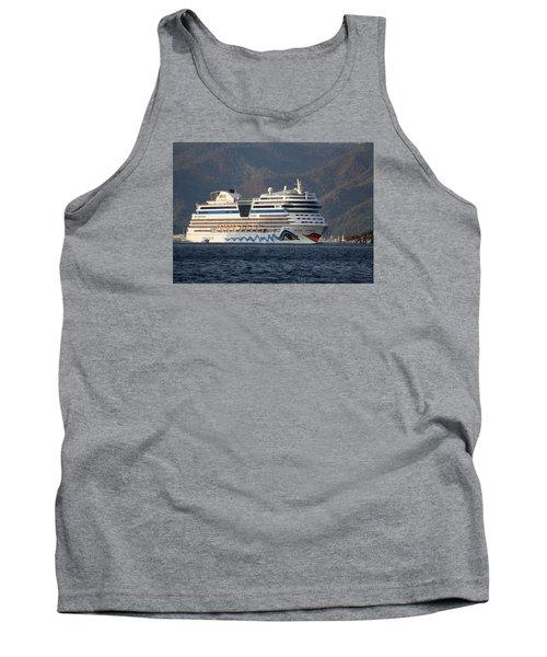 Aida Stella Cruise Ship Leaving Marmaris Tank Top