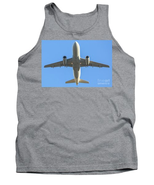 Airplane Isolated In The Sky Tank Top