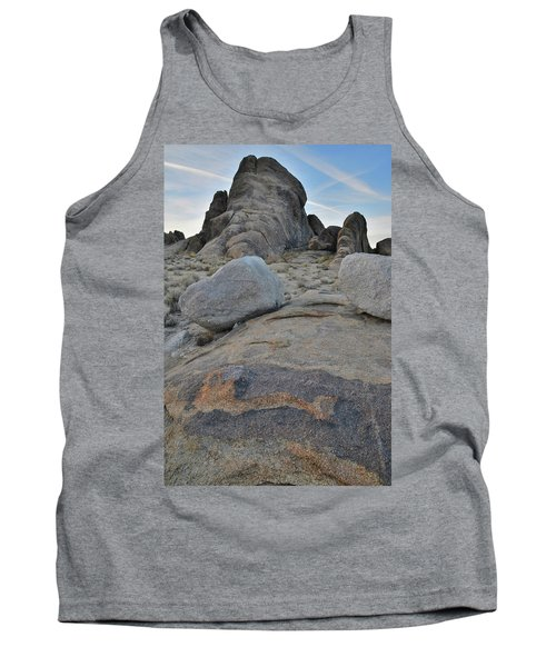 Alabama Hills Boulders At Dusk Tank Top
