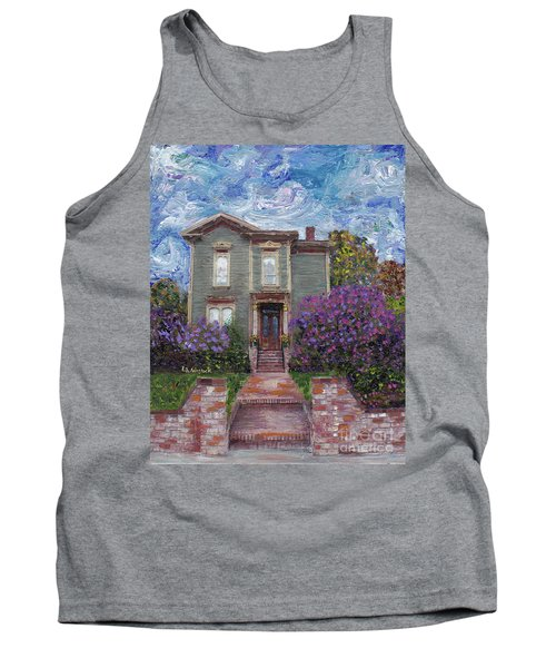 Tank Top featuring the painting Alameda 1888 - Italianate by Linda Weinstock