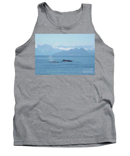 Alaska Finback Whales Tank Top