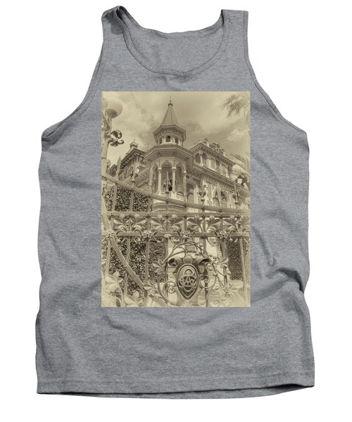 Tank Top featuring the photograph Albert Chamas Villa by Nigel Fletcher-Jones